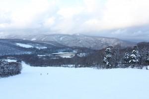 (秋田八幡平スキー場からの眺め)